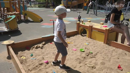 The development of fine motor skills in the sandbox (4 years old)