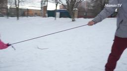 Катаемся на лыжах вместе с детьми