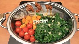 Сибас с овощами от Zepter